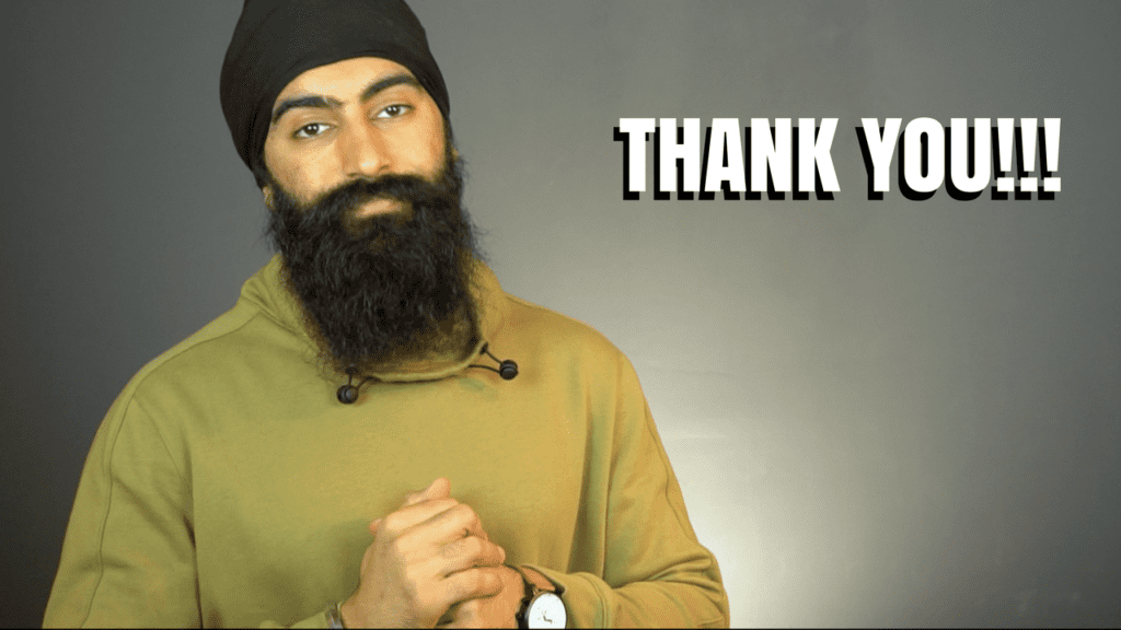 THANK YOU – Letter From Jaspreet Singh