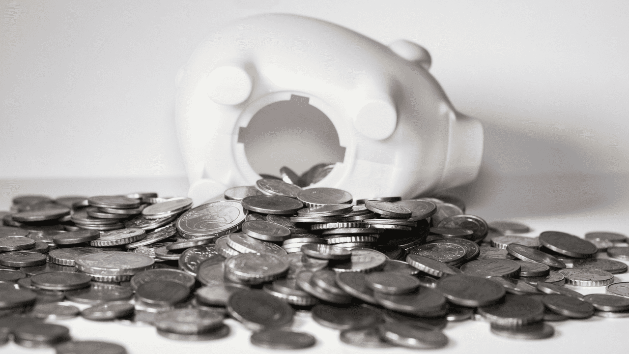 a broken piggy bank when you don't have an emergency fund