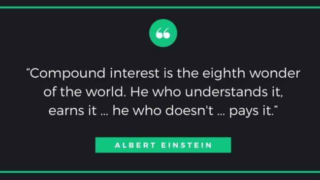Einstein quote compound interest