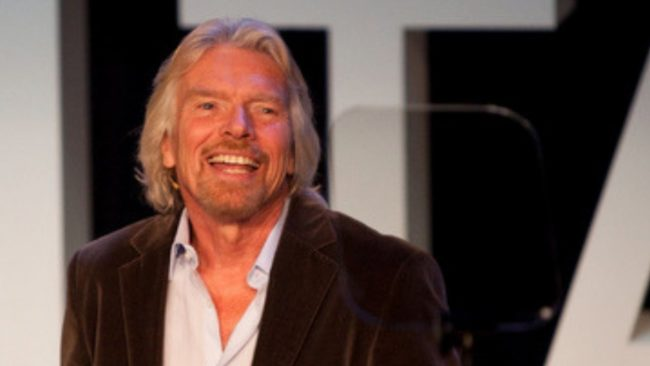 Richard Branson Smiling about his rag to riches story-2