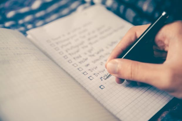 Writing a to-do list for success