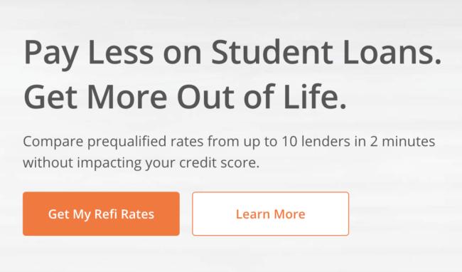 Credible - student loan refinance button